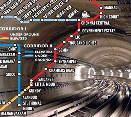 Chennai Metro Railway Project Corridor I & Corridor II @ Chennai